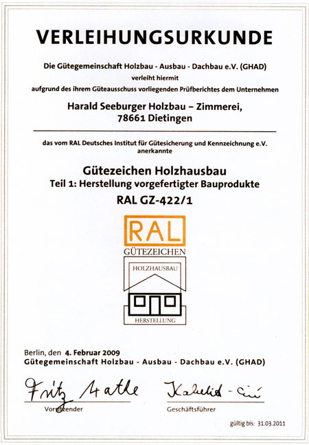 Seeburger Holzbau Irslingen