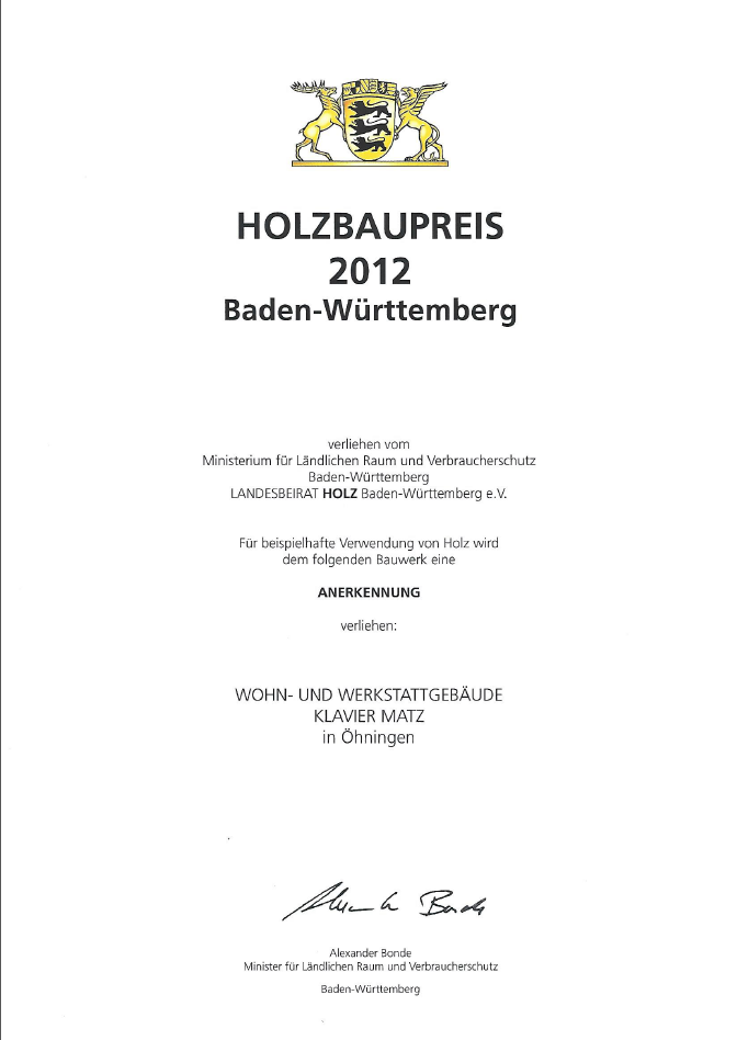 Holzbaupreis Seeburger
